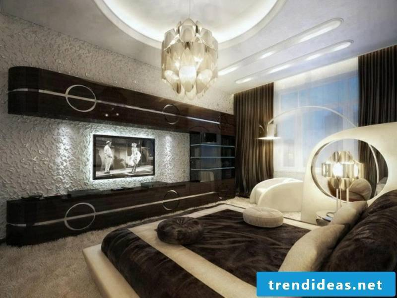 designer beautiful wall design in the luxury bedroom