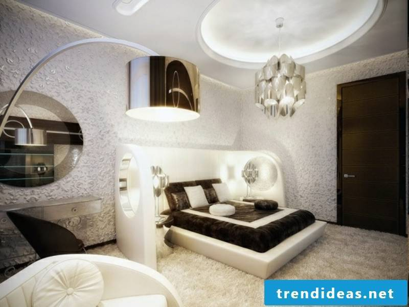 designer different types of lamps in the luxury bedroom