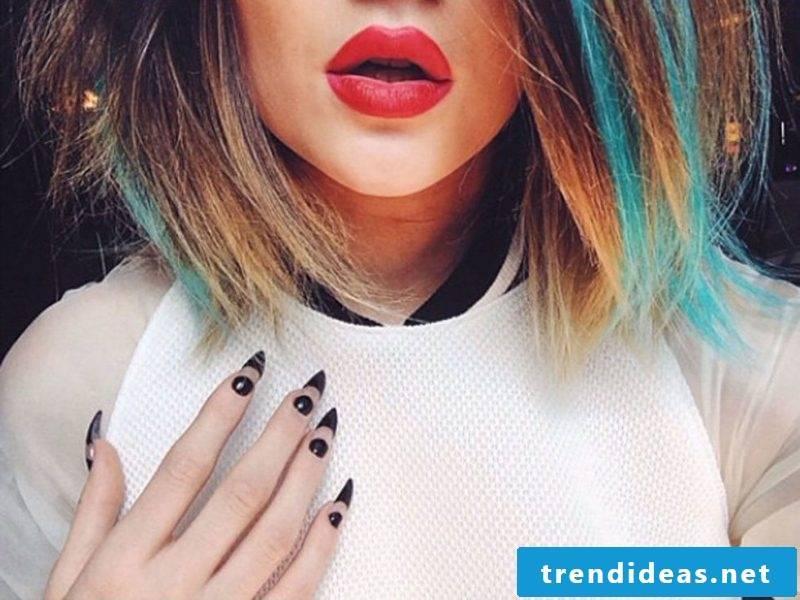Trend gel nails winter is black