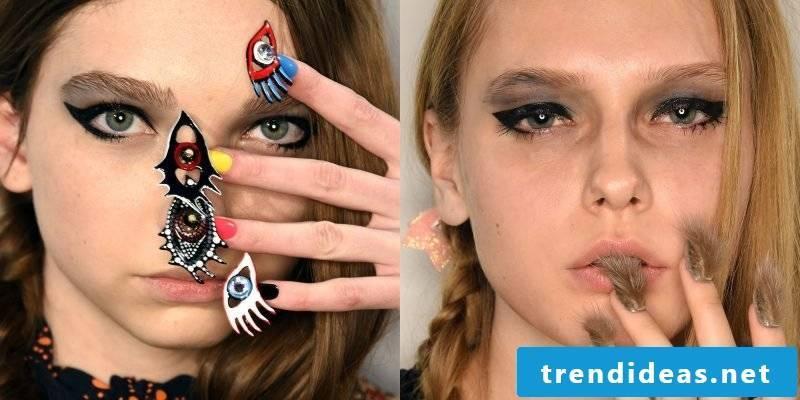Gel nails Pictures show unique examples