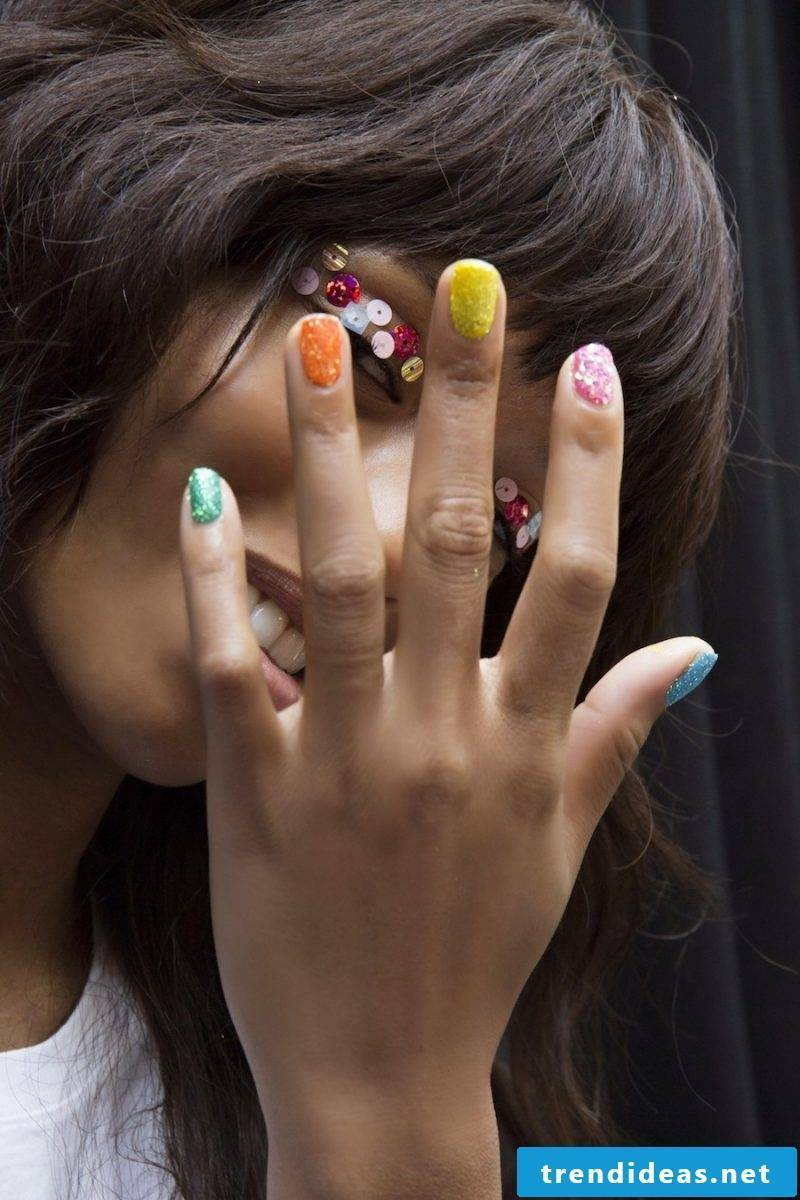 Gel nails Spring - candy colors fit with short nails