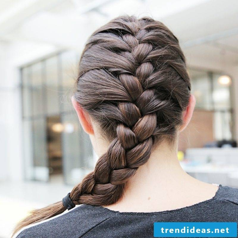 Hairstyles for medium-long hair