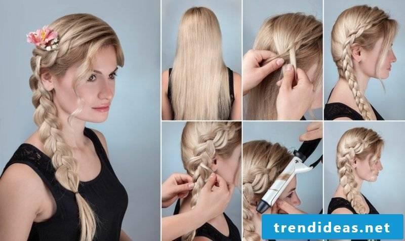 Braided hairstyles medium-long hair