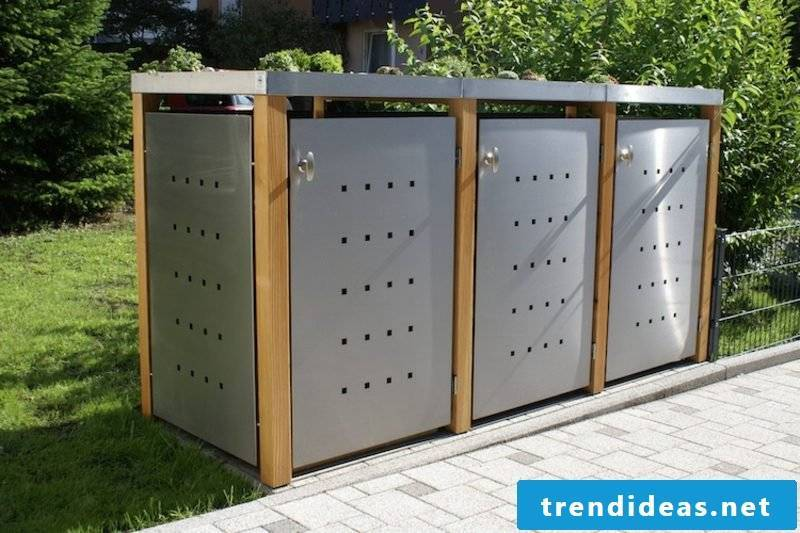Garbage bins shelter stainless steel