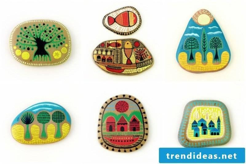 painted stones decoration ideas