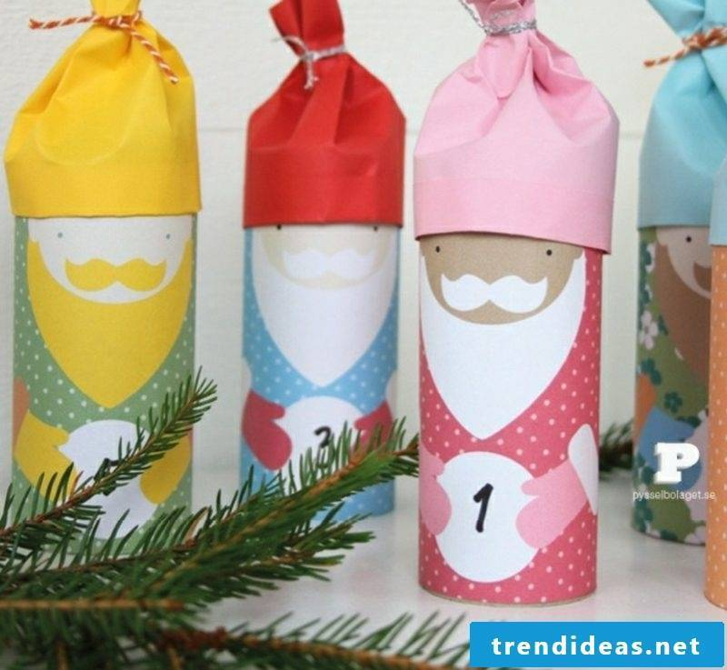 Create Advent calendars yourself Santa Claus