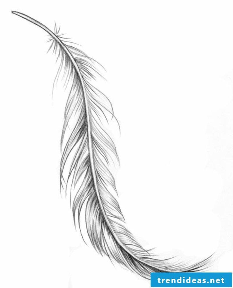 tatoo with feather