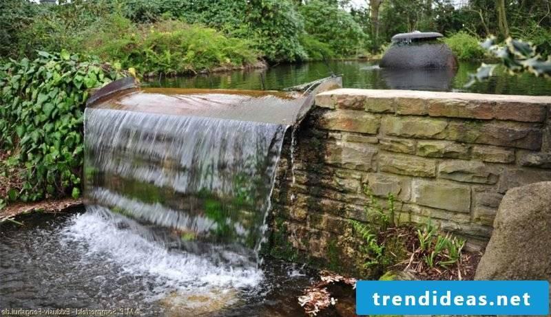 Waterfall garden design after Feng Shui