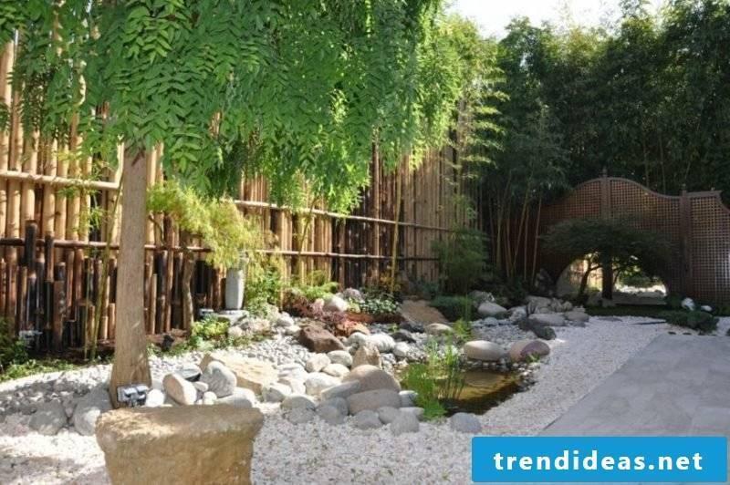 Screen fence garden design according to Feng Shui