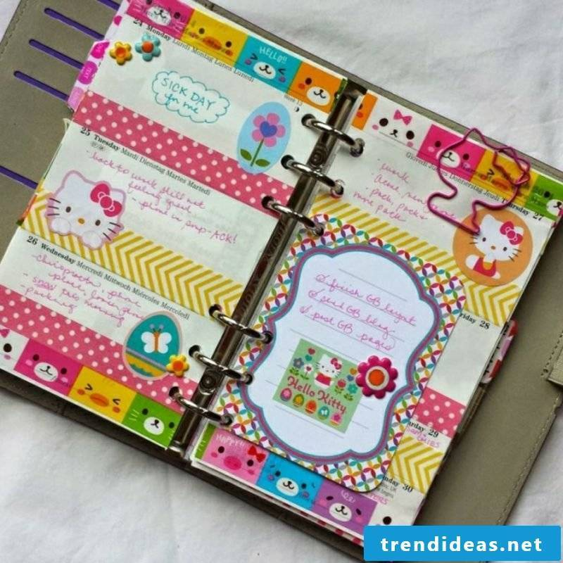 Make Filoxafing diary colorful