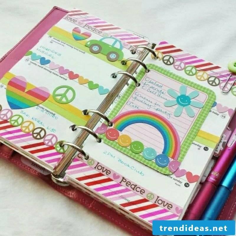 Filofaxing great DIY ideas rainbow colors