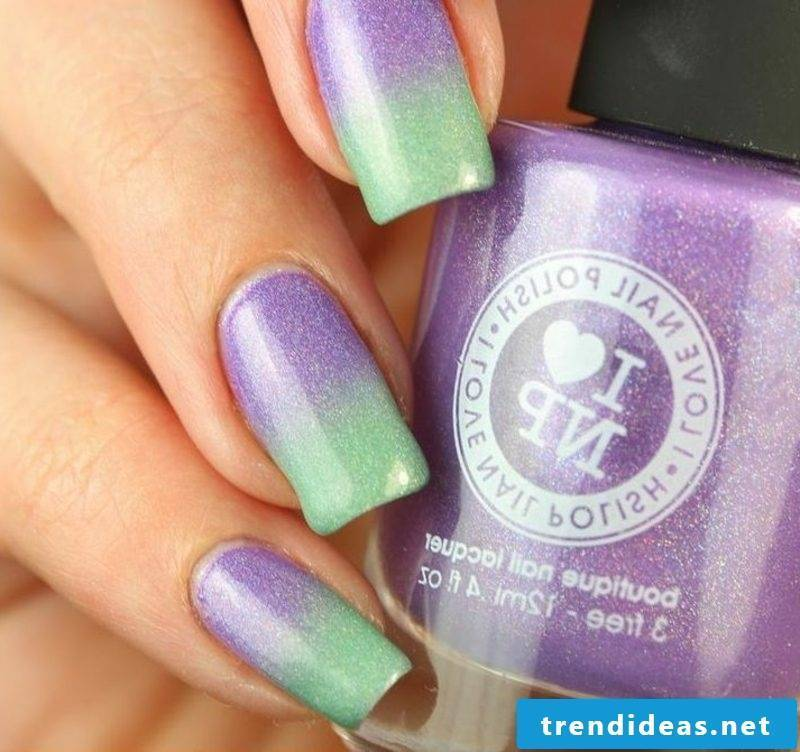 Fingernails design Ombre effect