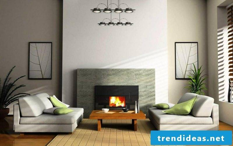 Fireplace panel minimalism