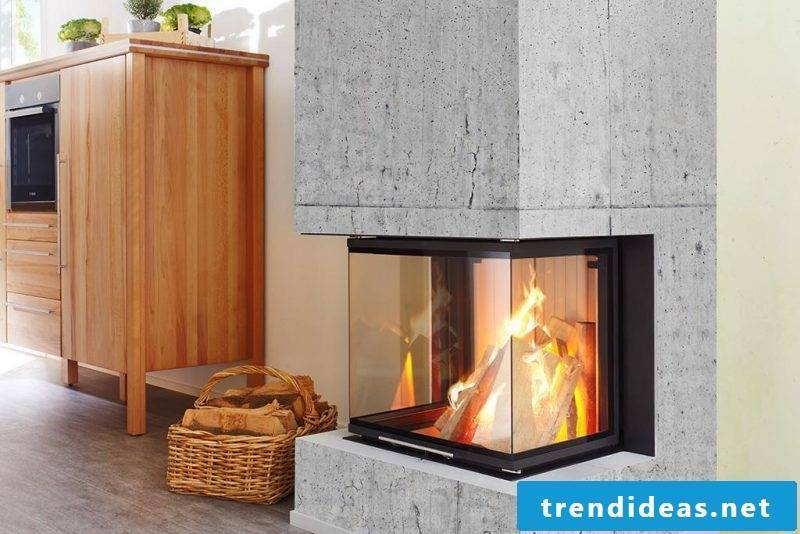 Fireplace cladding full of glass ensures more comfort