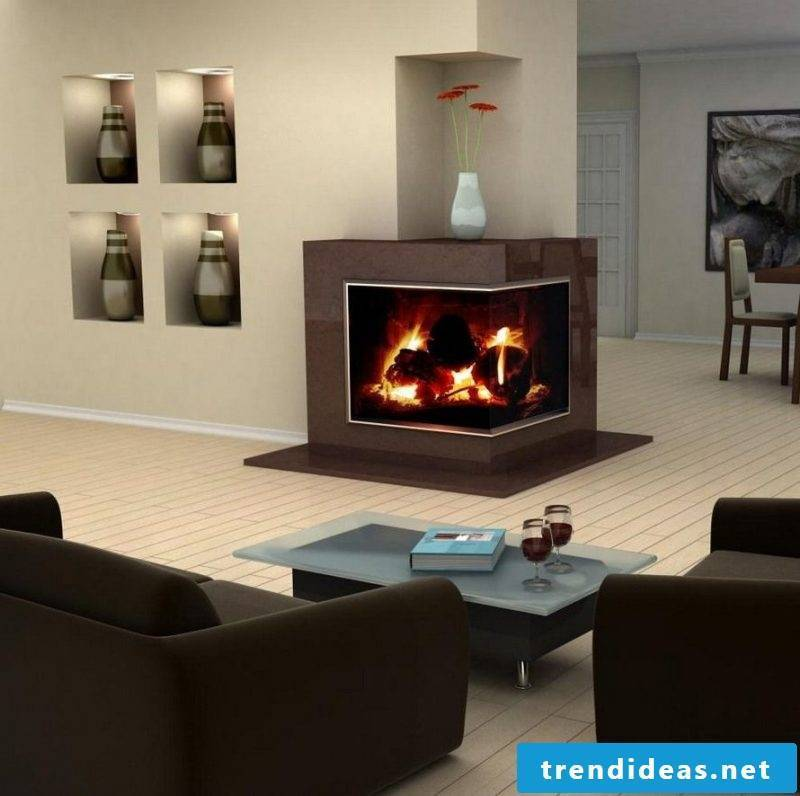 Fireplace cladding modern design