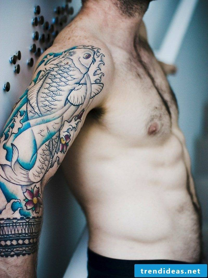 fish tattoo koi