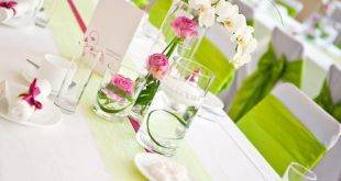 Flower table decoration - a fresh idea!
