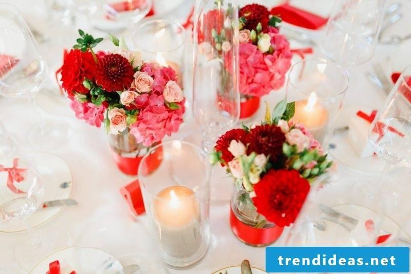 flowers table decoration romantic