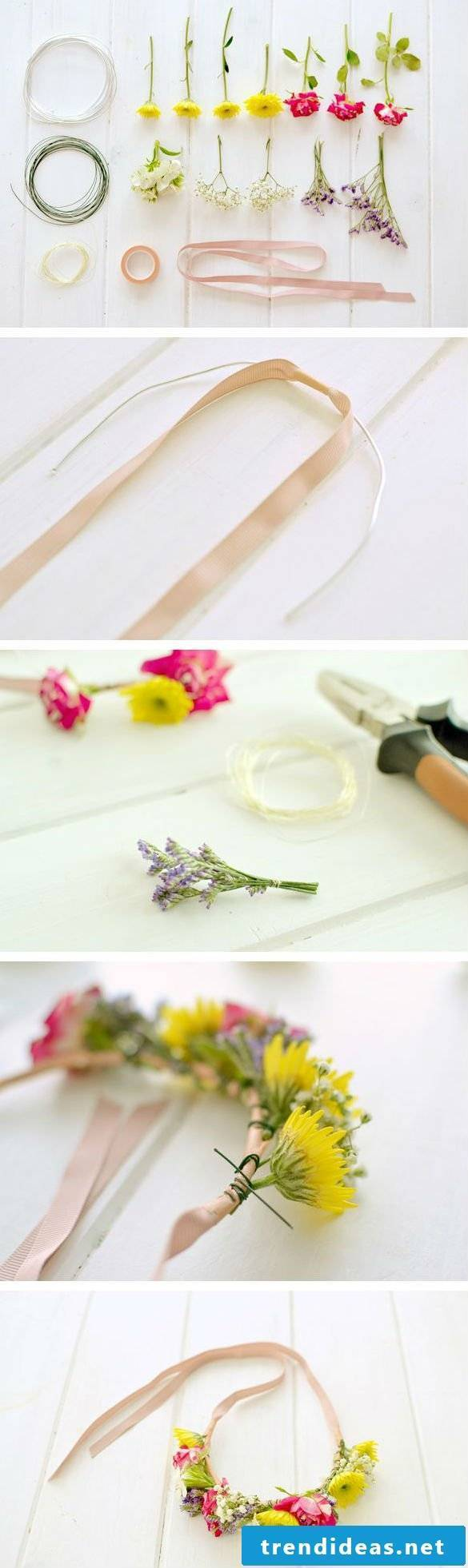Flower wreath instructions