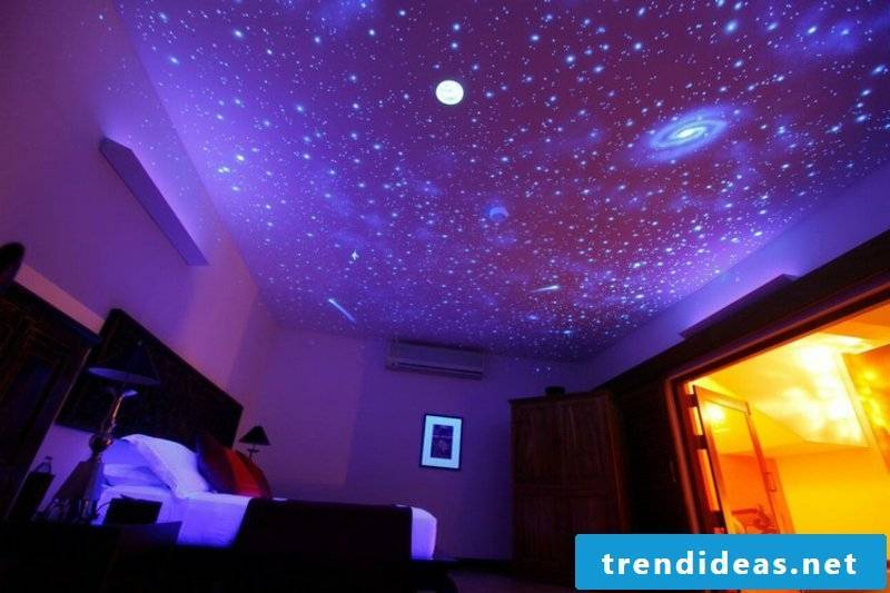 Ceiling picture starry sky