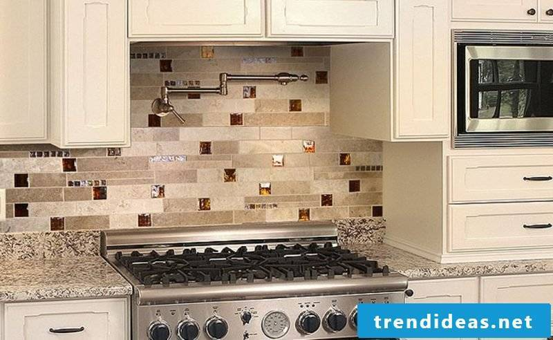foil cake wall in cream colors protects the surface and looks nice
