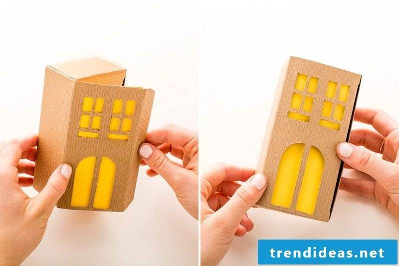 Tinker for Christmas: make gift box in the form of a house