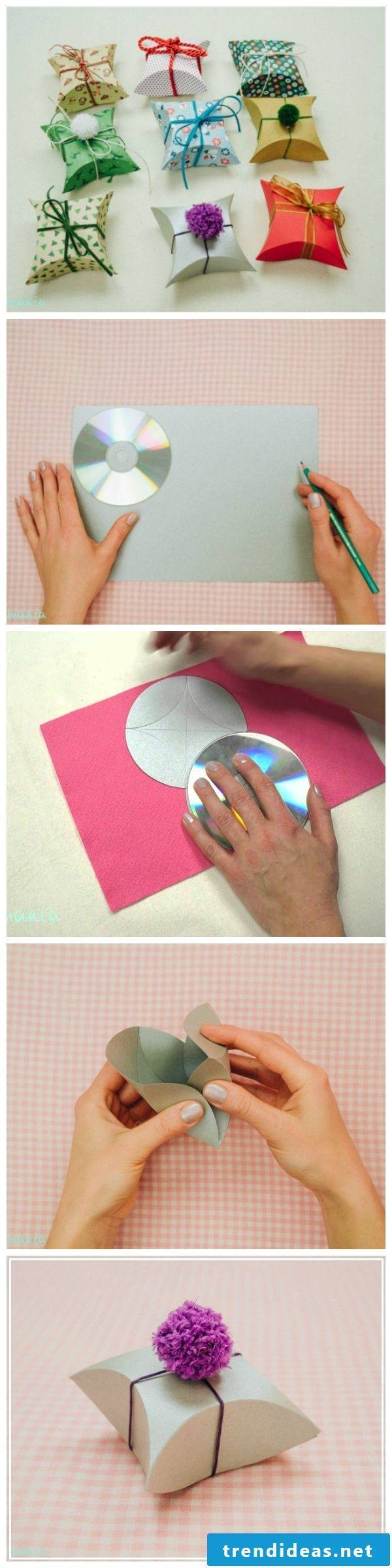 Paper Box Fold Using a CD - 5 Minutes Force