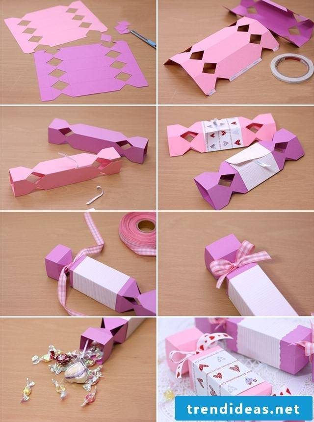 Chocolate box folding in the shape of a candy