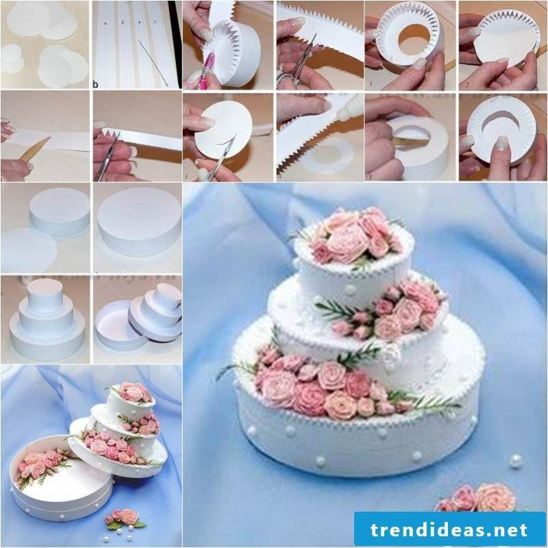 Tinker wedding gift: Make gift box in the form of a cake