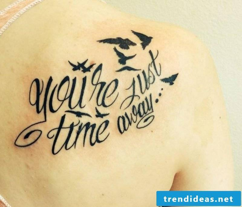 Tattoo lettering calligraphic gorgeous look