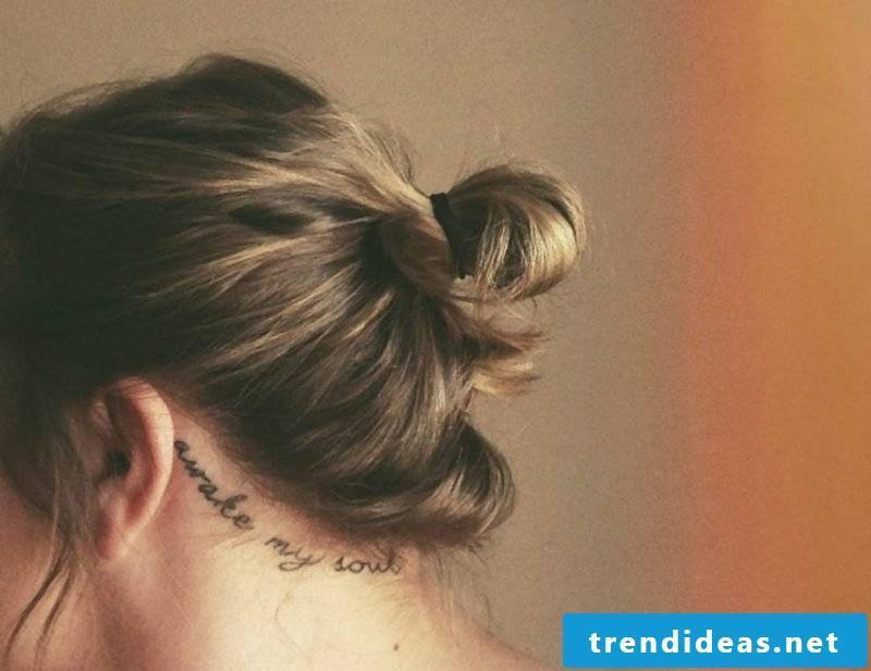 Fonts for tattoo personalized behind the ear