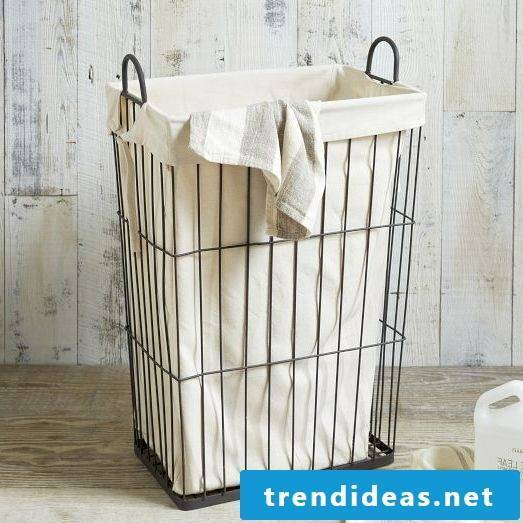 A laundry basket in the industrial look