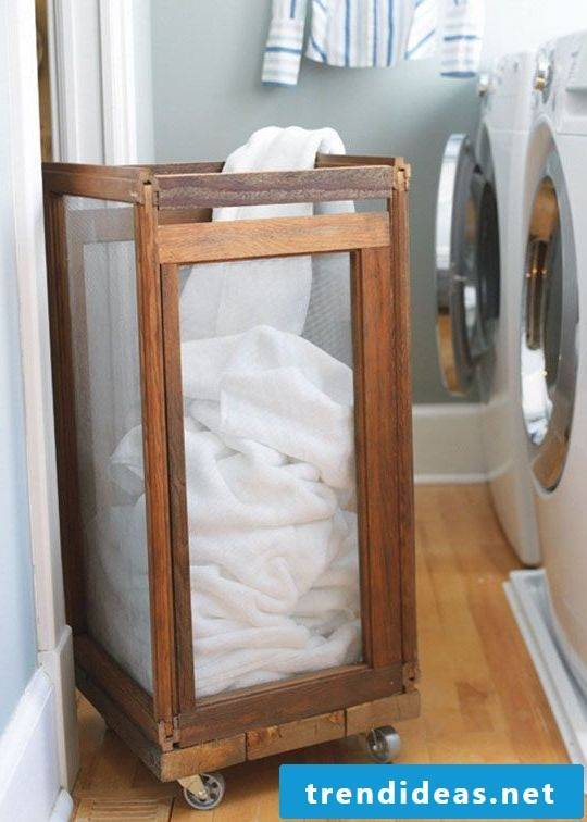 Make a laundry basket with child's play yourself