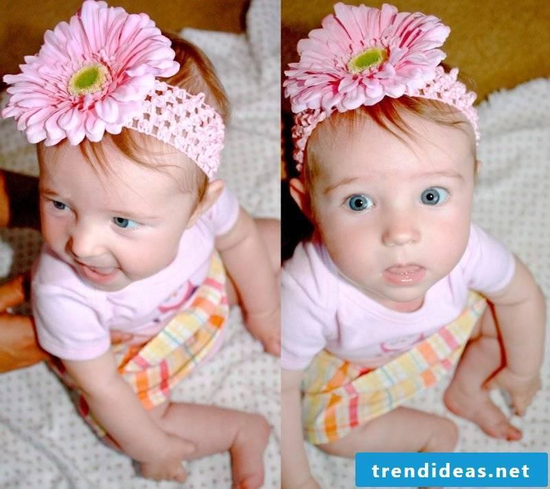 Baby hairband flower
