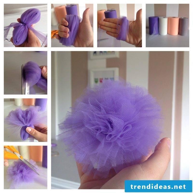 Baby hairband flower DIY
