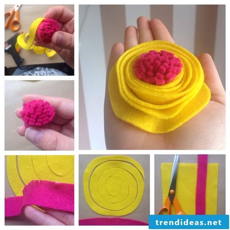 Baby Hairband Flowers DIY