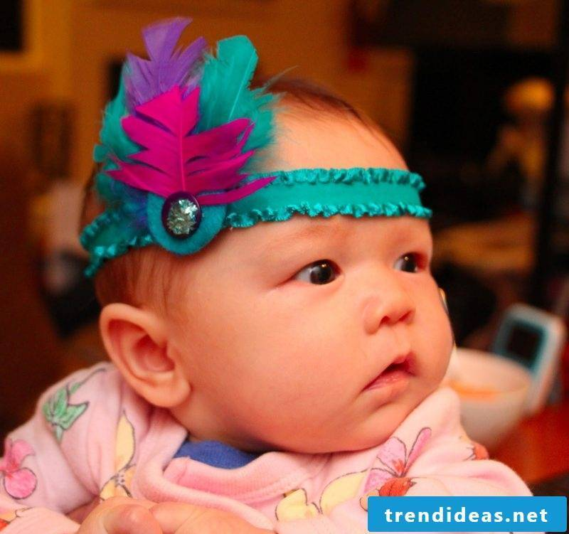 Baby hair band styles