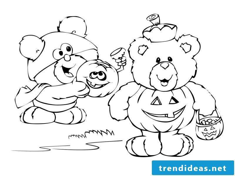 Pooh Halloween Coloring Pages for Kids - Get Coloring Pages | 600x800