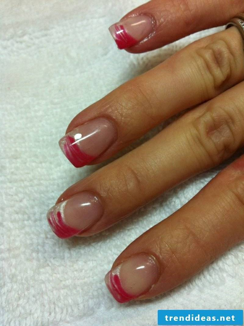 Nail art Spitz French gel nails
