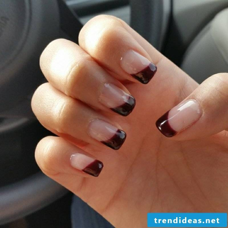 Gel nails red nail design autumn