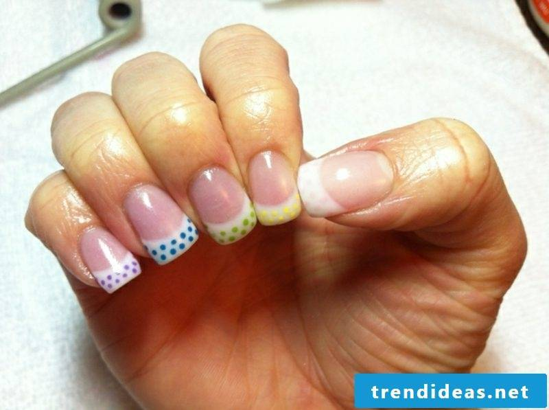 Nail art design simple gel nails Spitz
