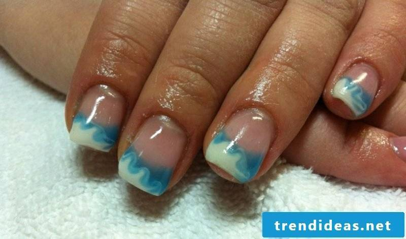 Nail art design 2016 Trends nail design blue