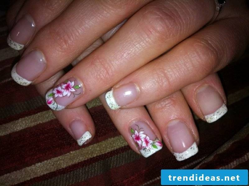 Gel nails nature nails French