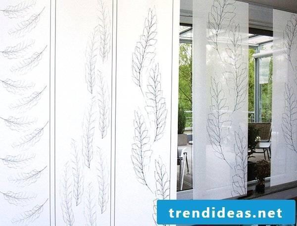 Textile design - Roller blinds in furniture
