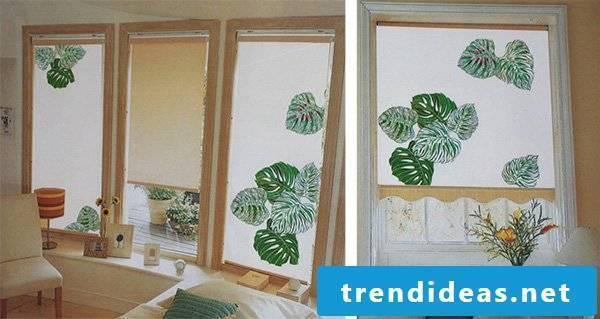 Textile design for the windows