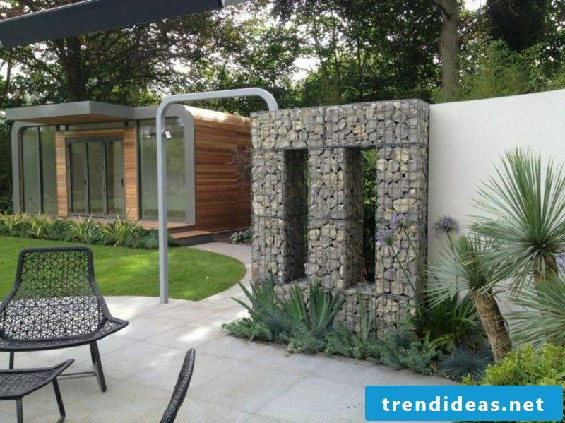 Gabion wall modern look