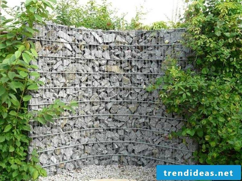 Gabion wall attractive look