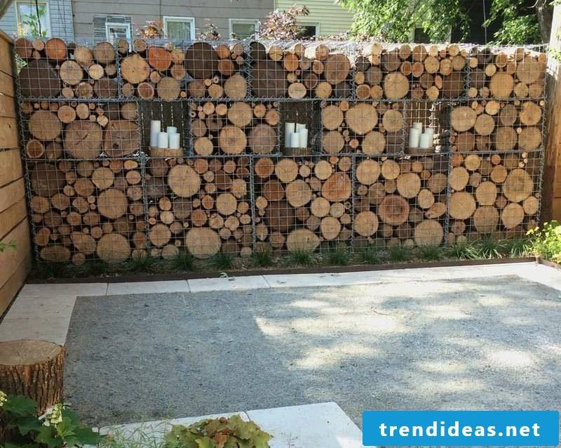 original gabion wood wall
