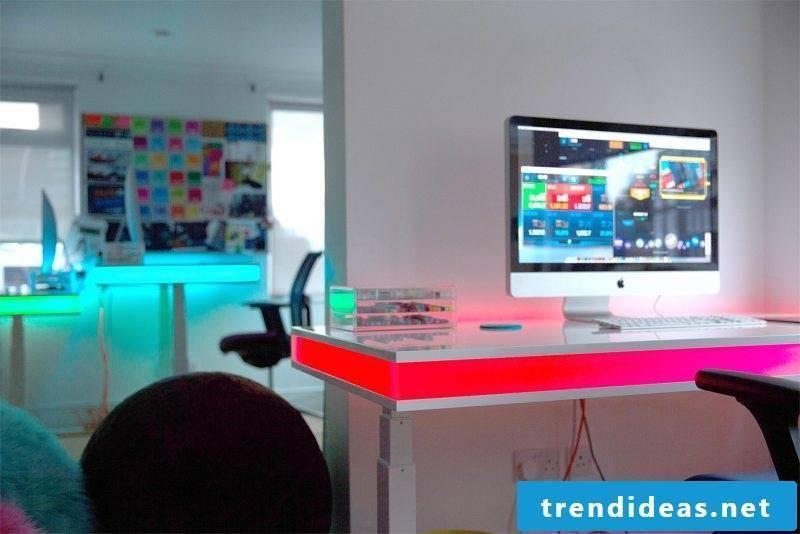 Gaming desk white
