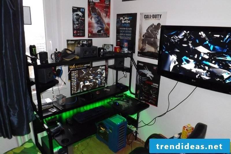 Gaming desk LED
